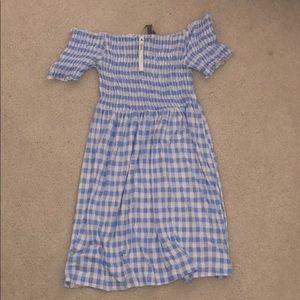 BRAND NEW Gingham off shoulder dress